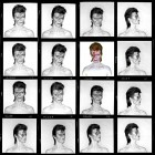 David Bowie, Aladdin Sane Contact Sheet, 1973 © Duffy